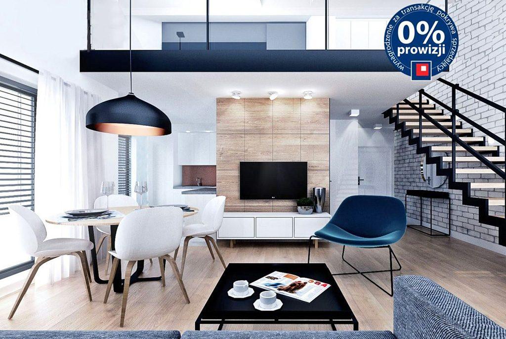 nowoczesne, dizajnerskie wnętrze salonu w ekskluzywnym apartamencie do sprzedaży w Szczecinie