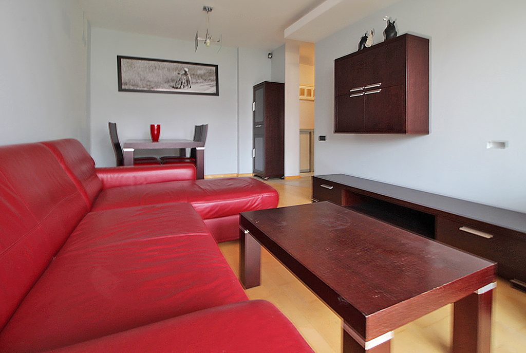 ekskluzywny salon w luksusowym apartamencie do wynajęcia w Krakowie