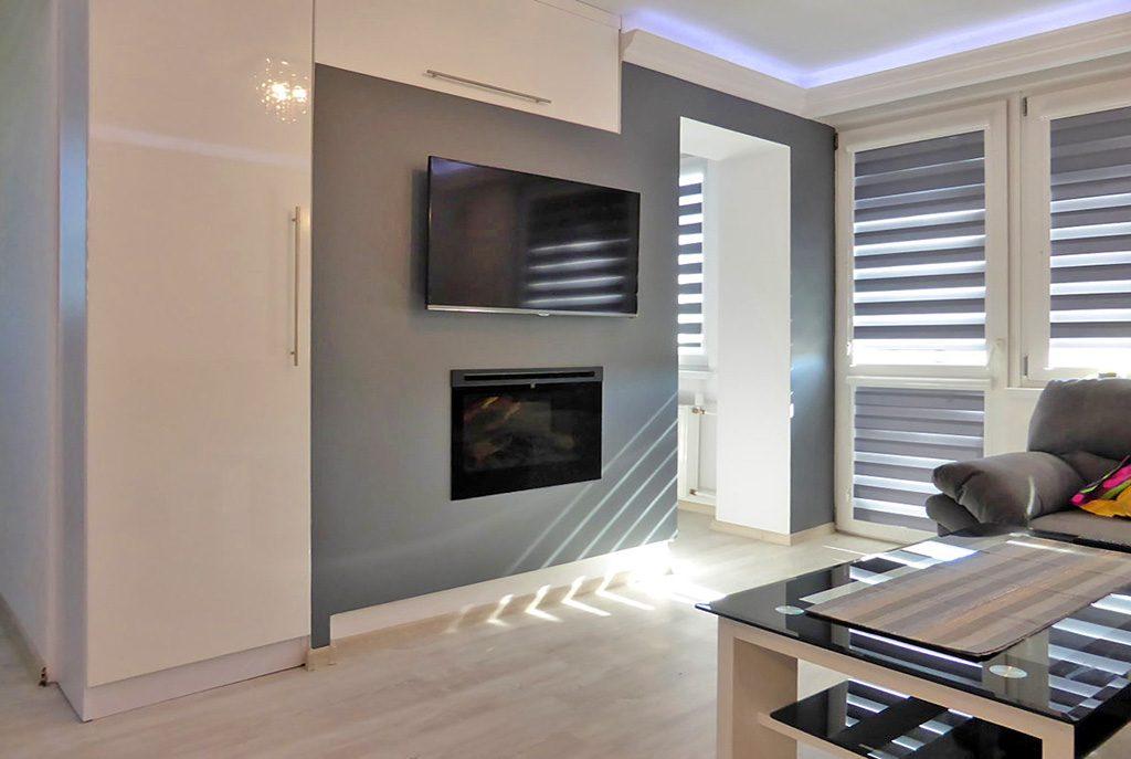 nowoczesne wnętrze ekskluzywnego apartamentu do wynajęcia w Kwidzynie