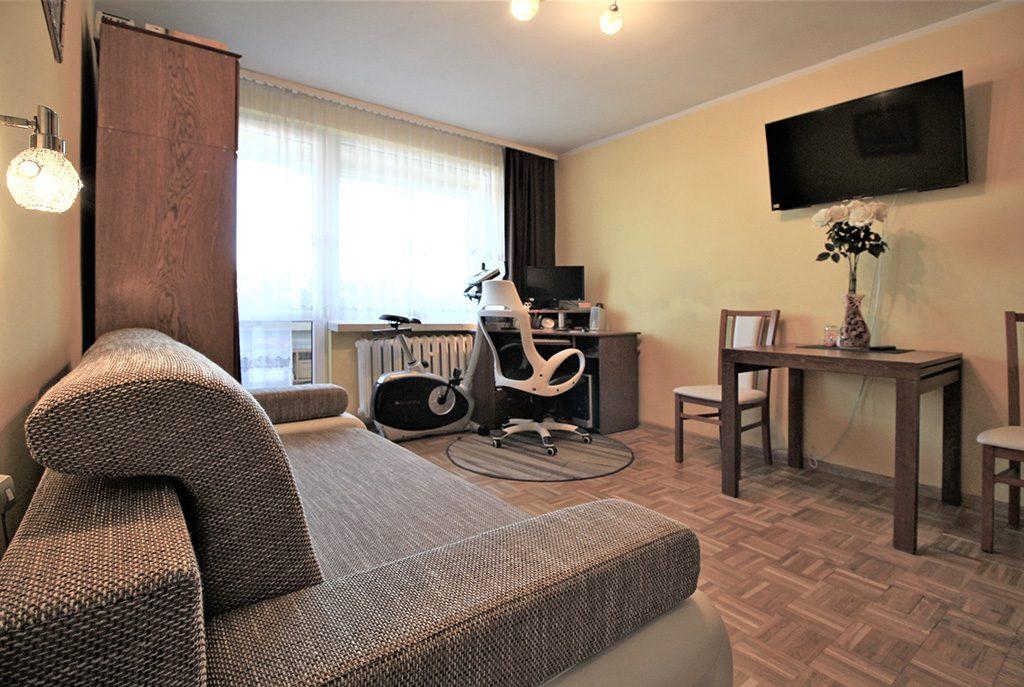 przestronny salon w ekskluzywnym apartamencie do sprzedaży w Krakowie