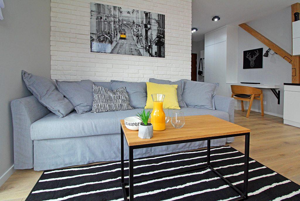 nowoczesne, artystyczne wnętrze ekskluzywnego apartamentu do wynajęcia w Krakowie