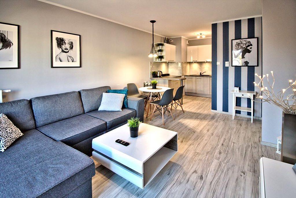nowoczesne, artystyczne wnętrze ekskluzywnego apartamentu do wynajęcia w Szczecinie