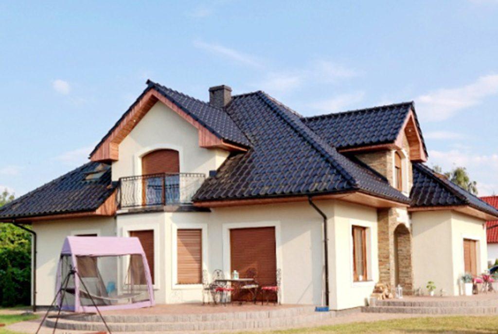 widok od strony ogrodu na ekskluzywna willę do sprzedaży w Gorzowie Wielkopolskim