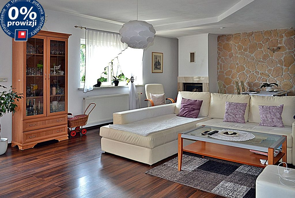 luksusowy salon w ekskluzywnej willi do sprzedaży w okolicach Bolesławca