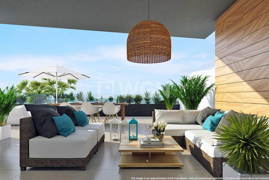 luksusowy taras widokowy przy ekskluzywnym apartamencie do sprzedaży w Hiszpanii (Orihuela Costa - La Zenia)