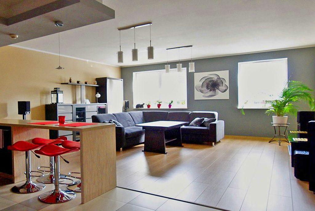 nowoczesny, elitarny salon w ekskluzywnym apartamencie do sprzedaży w okolicach Katowic