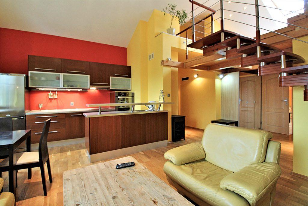 nowoczesne i prestiżowe wnętrze ekskluzywnego apartamentu do wynajęcia w Krakowie
