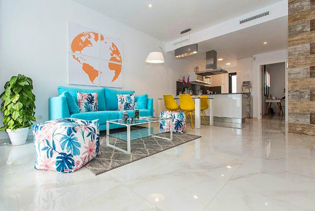 prestiżowy salon w ekskluzywnej willi do sprzedaży w Hiszpanii (Orihuela Costa)