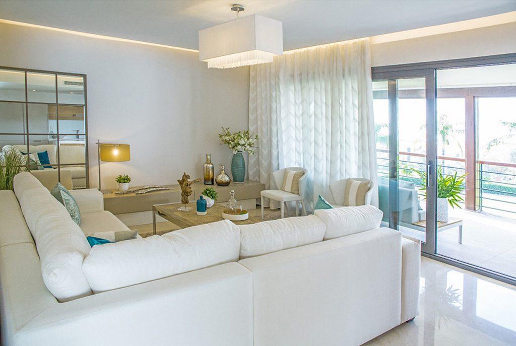 luksusowy salon w ekskluzywnym apartamencie do sprzedaży Costa del Sol, Malaga (Hiszpania)