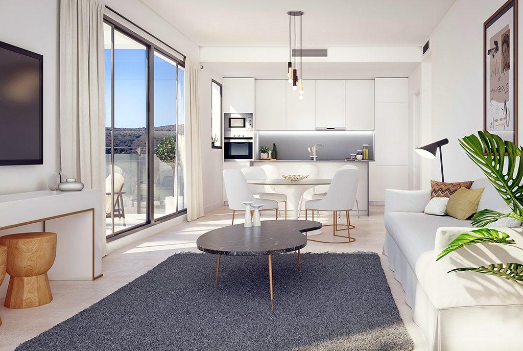 zaprojektowane w nowoczesnym designie wnętrze luksusowego apartamentu do sprzedaży Hiszpania (Costa del Sol, Estepona)