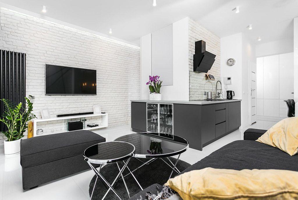 nowoczesne, designerskie wnętrze luksusowego apartamentu do sprzedaży Kraków