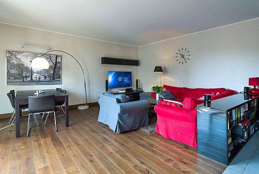 nowoczesny salon w ekskluyzwnym apartamencie do sprzedaży Kraków
