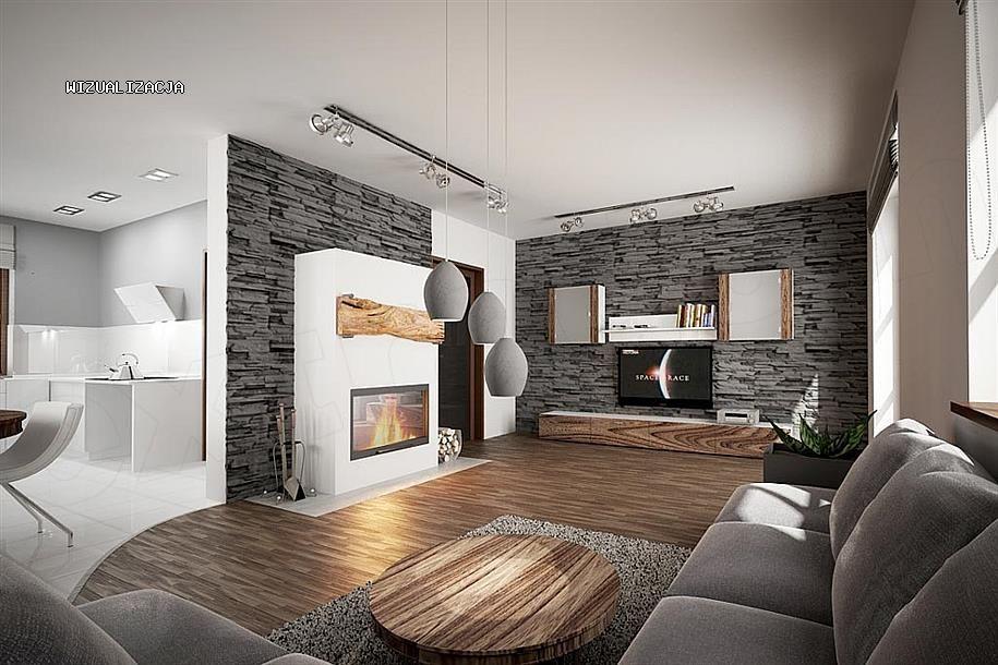 nowoczesny salon w ekskluzywnej willi do sprzedaży Częstochowa
