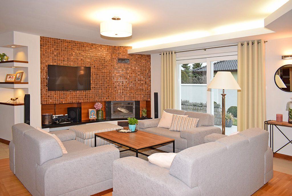 komfortowy, prestiżowy salon w ekskluzywnej willi do sprzedaży Ostrów Wielkopolski