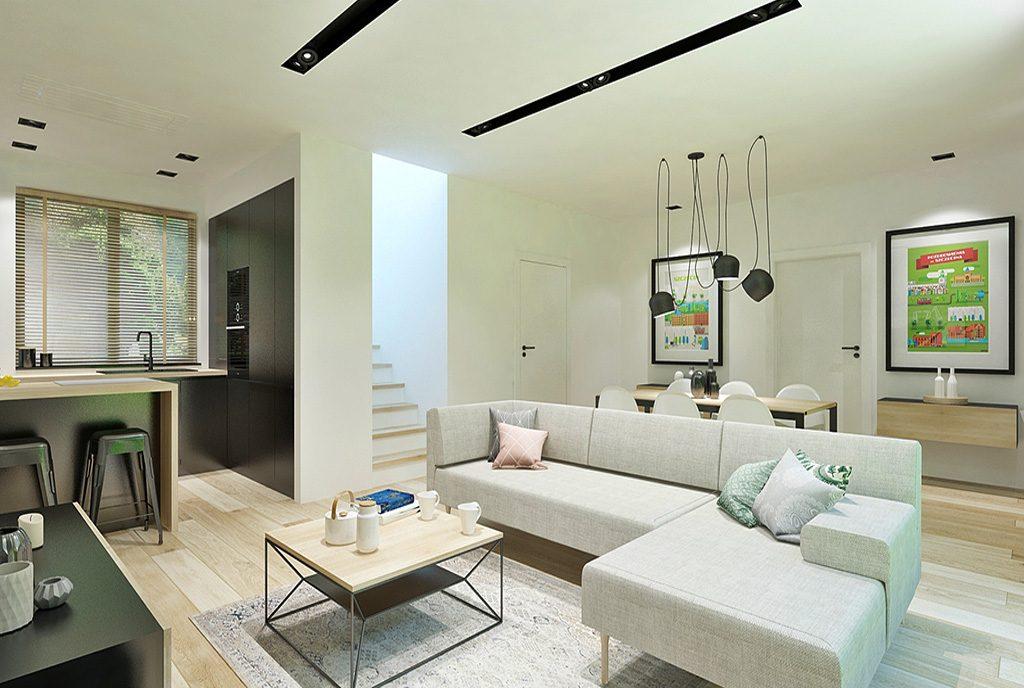komfortowy salon w luksusowej willi do sprzedaży Szczecin