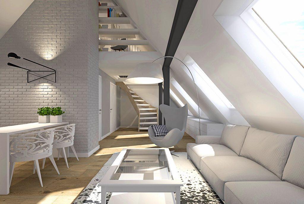 nowoczesne, zaprojektowane zgodnie ze współczesnymi trendami wnętrze luksusowego apartamentu na sprzedaż Szczecin