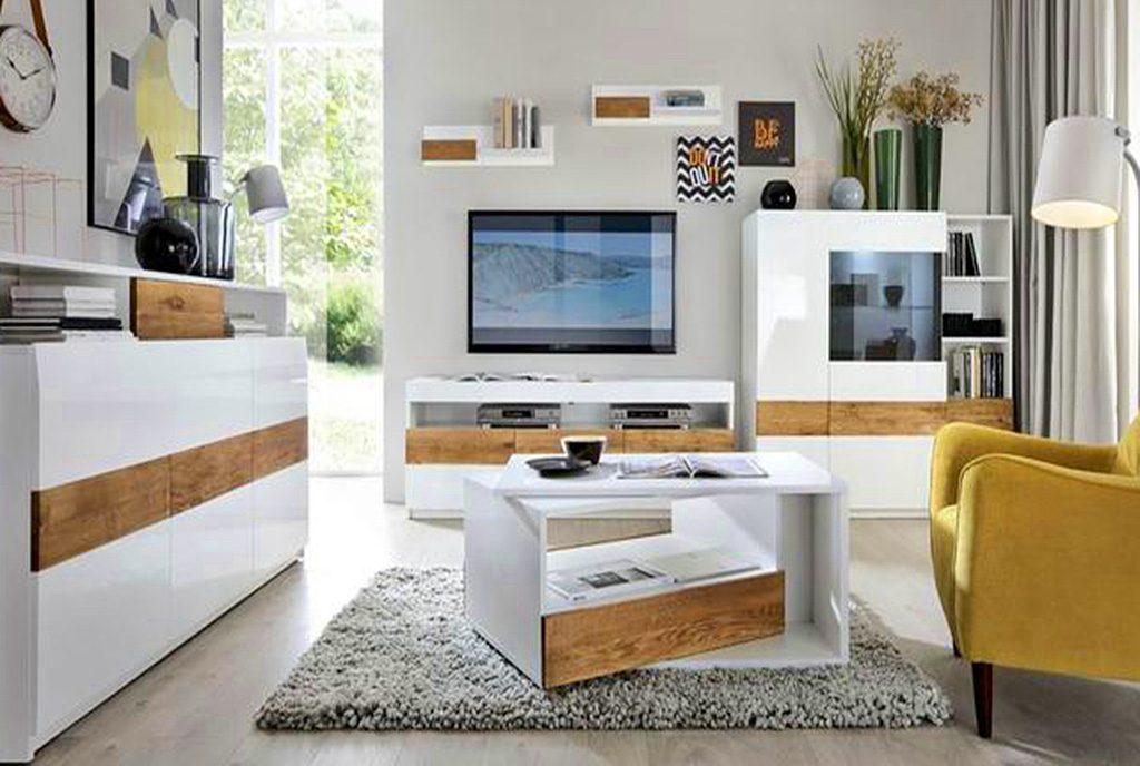 nowoczesny salon w ekskluzywnym apartamencie do sprzedaży Grudziądz