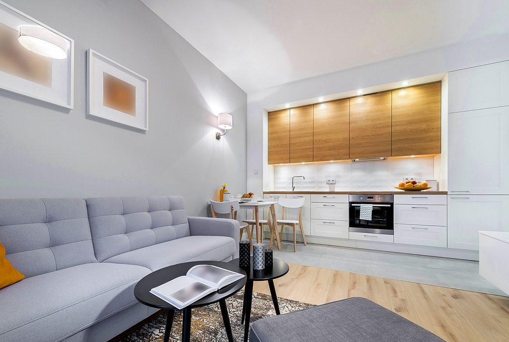 nowoczesna kuchnia w ekskluzywnym apartamencie do sprzedaży Grudziądz