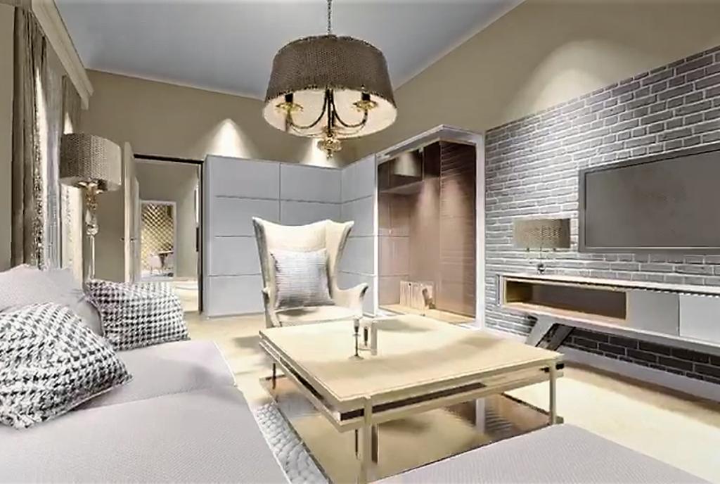 kasyczny projekt salonu w ekskluzywnym apartamencie do sprzedaży Kraków (okolice)