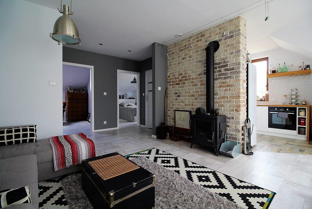 zaprojektowane w nowoczesnym stylu wnętrze ekskluzywnego apartamentu do sprzedaży Kraków (okolice)