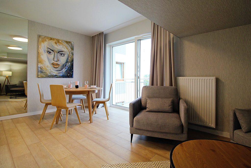 wykończone w wysokim standardzie wnętrze ekskluzywnego apartamentu do sprzedaży Kraków