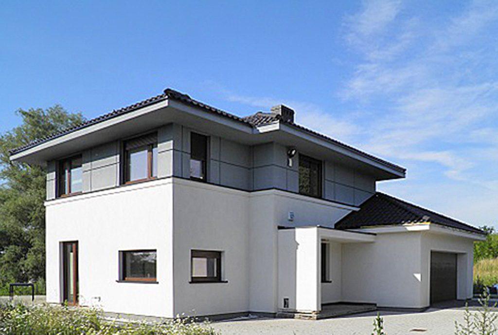 nowoczesna architektonicznie bryła ekskluzywnej willi do sprzedaży Szczecin okolice