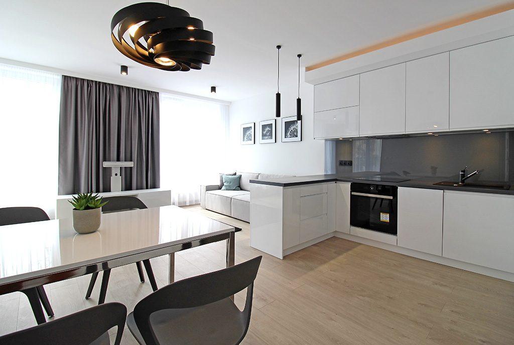 nowoczesne wnętrze ekskluzywnego apartamentu do wynajęcia Kraków