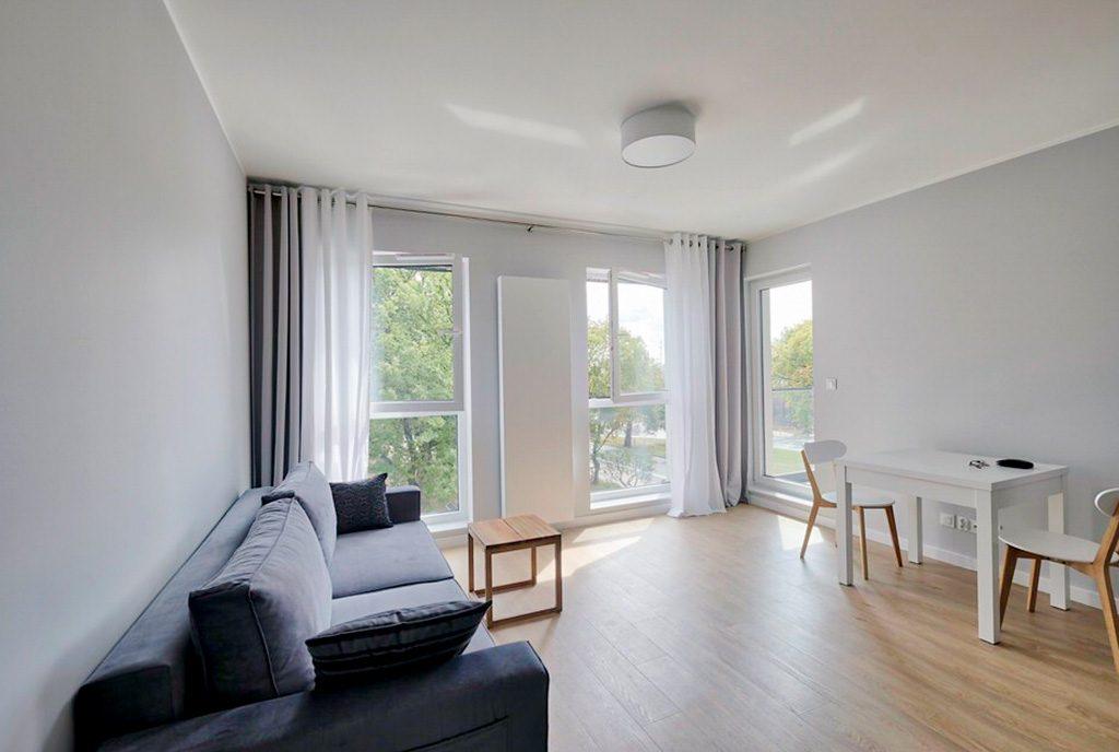 przestronny salon w ekskluzywnym apartamencie do wynajęcia Szczecin