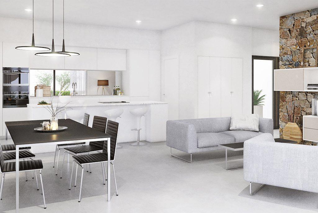 komfortowy salon w ekskluzywnej rezydencji do sprzedaży Hiszpania (Dehesa De Campoamo)
