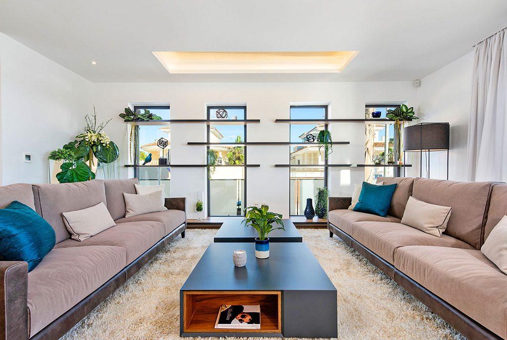 ekskluzywny salon w luksusowej willi do sprzedaży Hiszpania (Ciudad Quesad)