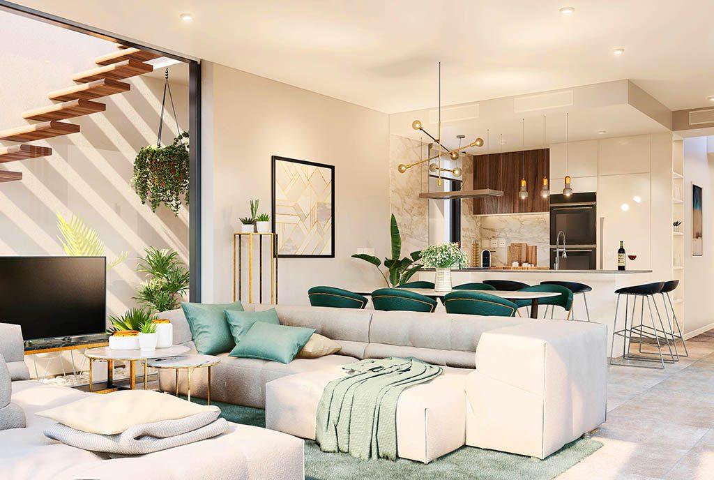 komfortowy salon w luksusowej willi na sprzedaż Hiszpania (Mar de Cristal)