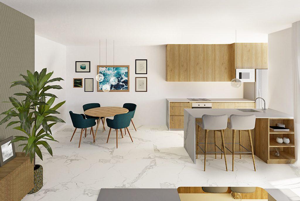 ekskluzywny salon w luksusowym apartamencie na sprzedaż Guardamar De Segur (Hiszpania)