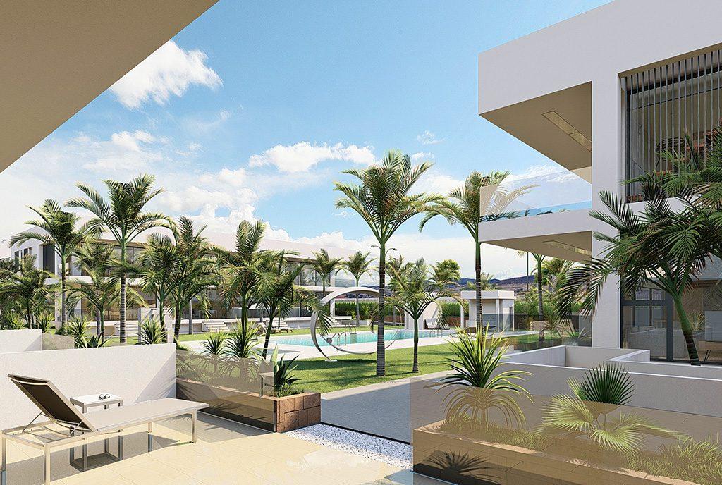 komfortowy taras przy ekskluzywnym apartamencie do sprzedaży Hiszpania (Mar de Cristal)