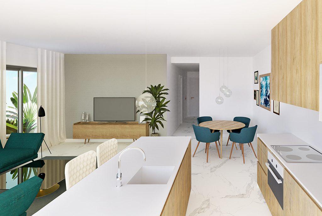nowoczesne wnętrze ekskluzywnego apartamentu do sprzedaży Hiszpania (Guardamar De Segur)
