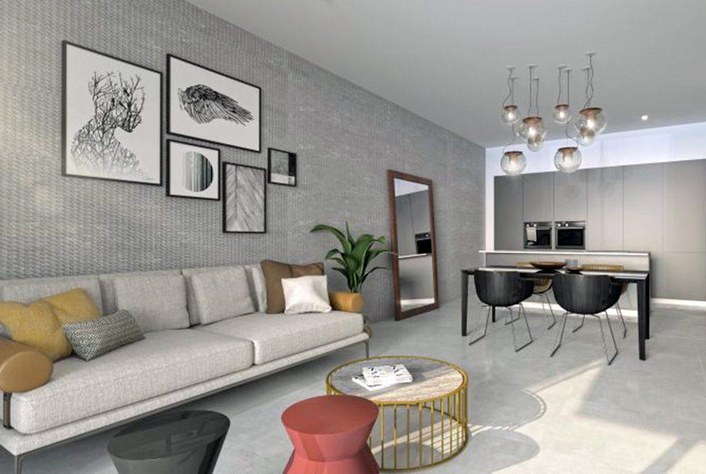 elegancki salon w ekskluzywnym apartamencie do sprzedaży Hiszpania (Orihuel)