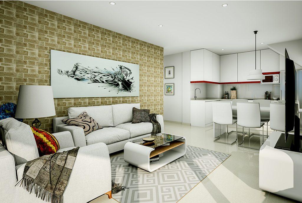nowoczesne wnętrze ekskluzywnego apartamentu do sprzedaży Hiszpania (Torreviej)