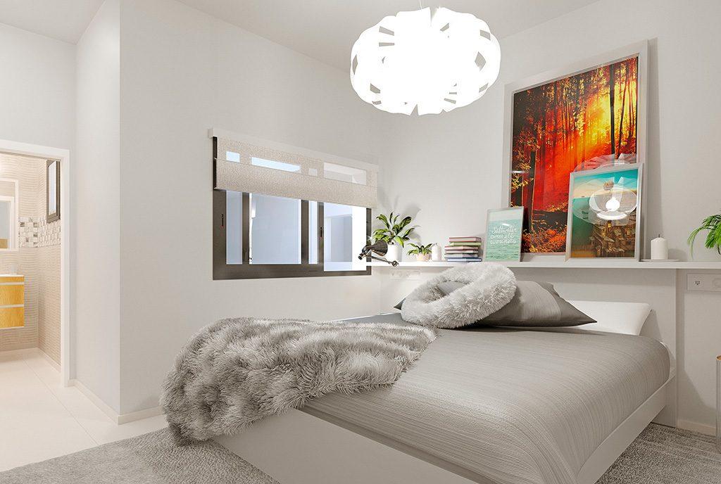 komfortowa sypialnia w ekskluzywnym apartamencie do sprzedaży Hiszpania (Torreviej)