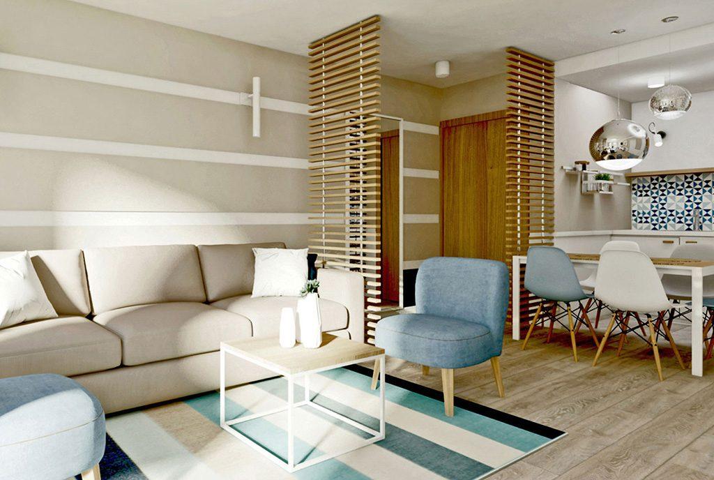 komfortowe wnętrze ekskluzywnego apartamentu do sprzedaży nad morzem