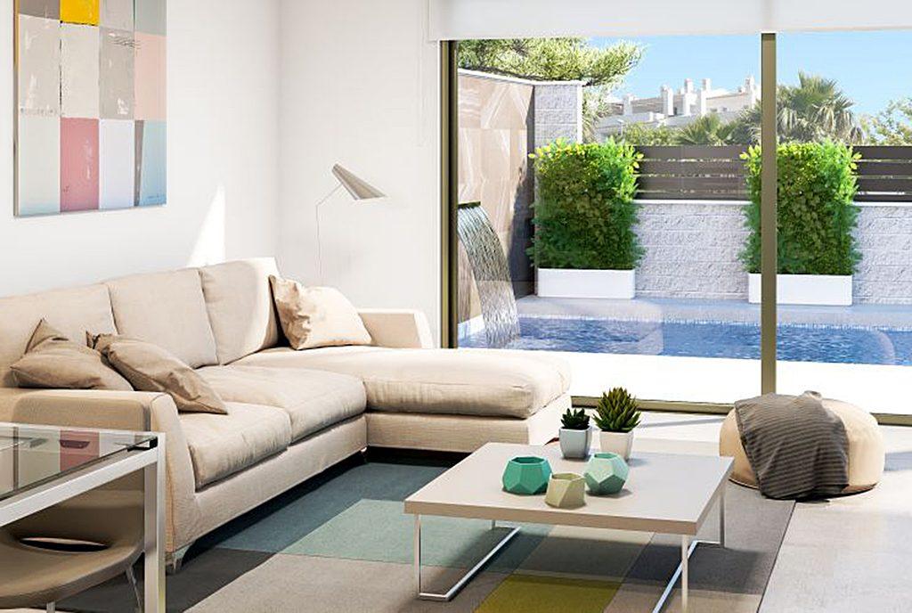 prestiżowy i nowoczesny salon w ekskluzywnej willi do sprzedaży Hiszpania-Orihuela-Cost