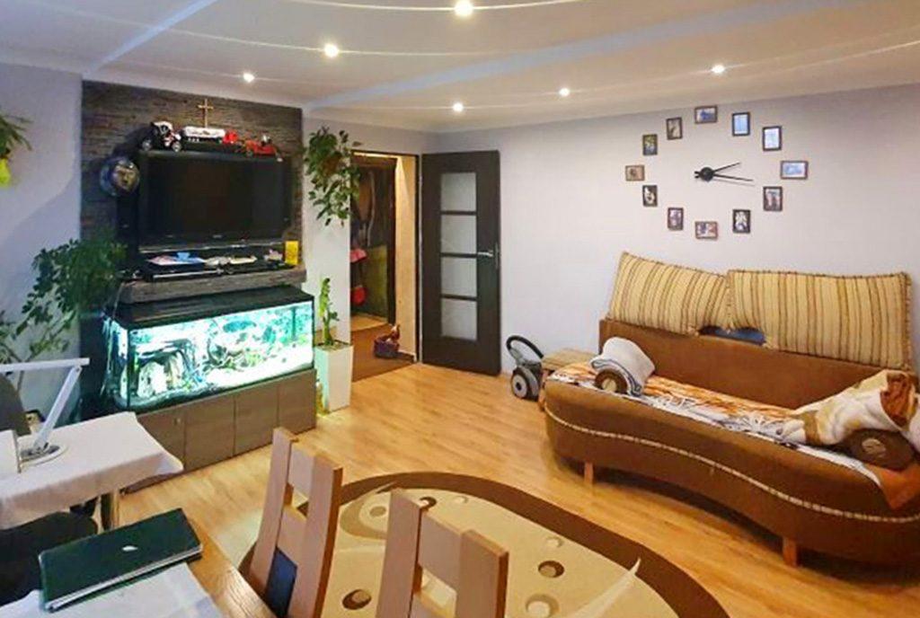 elegancki salon w ekskluzywnym apartamencie do sprzedaży Chrzanów (okolice)