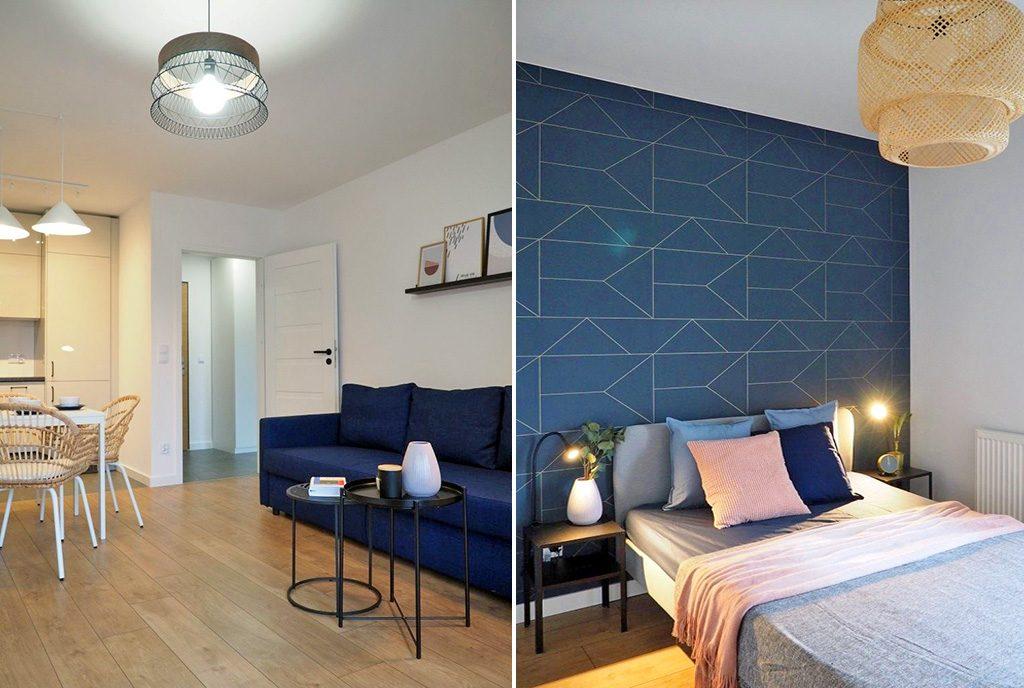 zaciszna sypialnia w luksusowym apartamencie na wynajem Wrocław