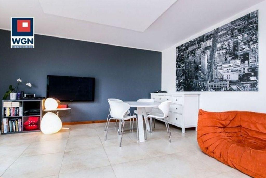 komfortowy salon w luksusowym apartamencie do sprzedaży Gdynia