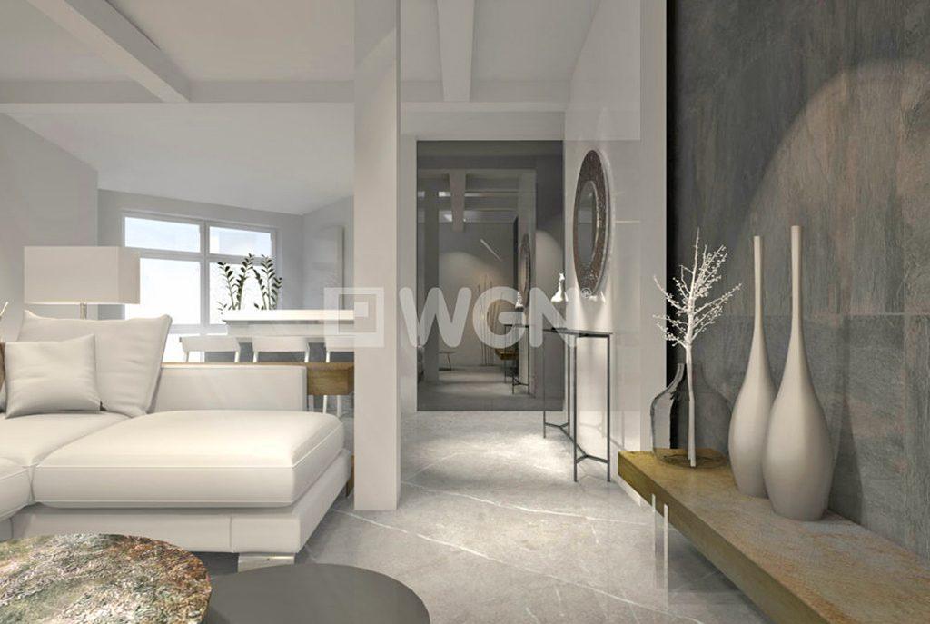 komfortowe wnętrze ekskluzywnego salonu w luksusowym apartamencie na sprzedaż Szczecin