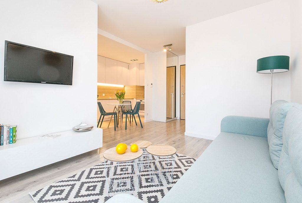 komfortowe wnętrze luksusowego apartamentu do wynajęcia Gdańsk