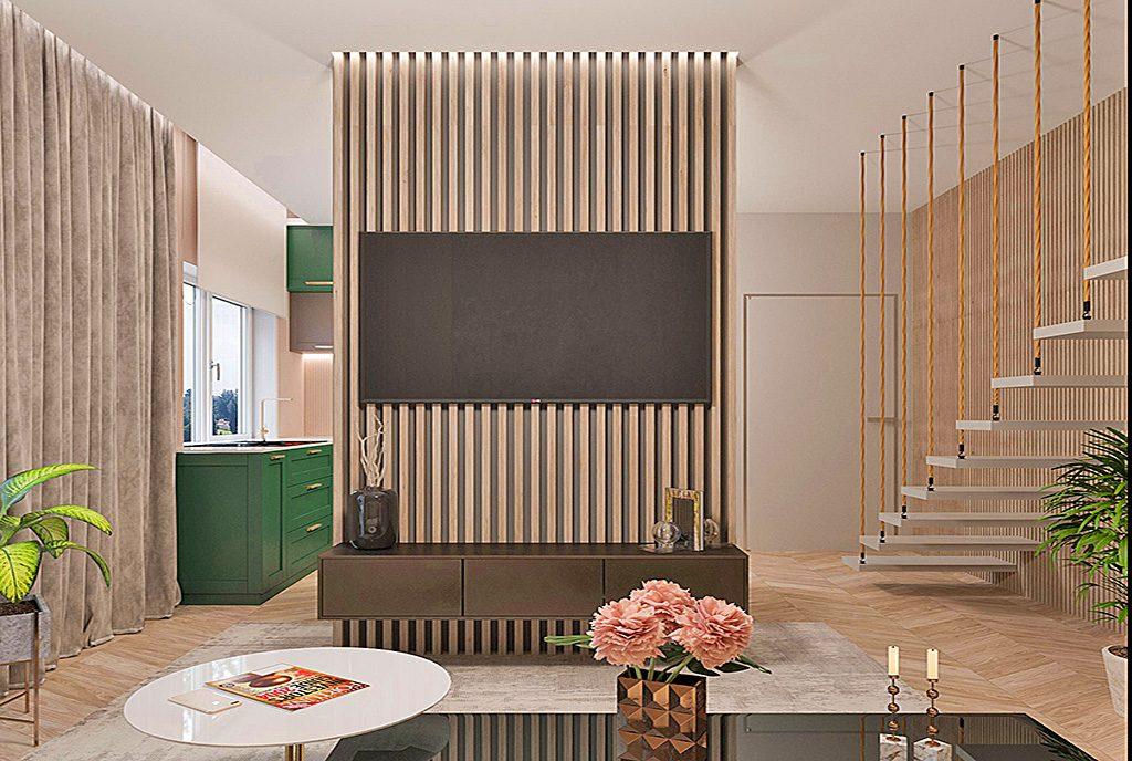fragment komfortowego pokoju w luksusowym apartamencie na sprzedaż Tarnów