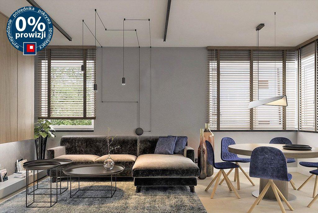 komfortowy salon w ekskluzywnym apartamencie na sprzedaż Ustroń