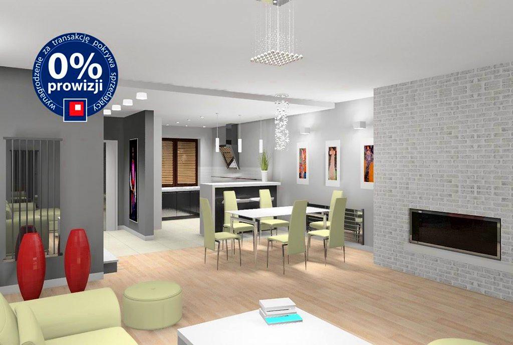 nowoczesny design salonu w ekskluzywnej willi do sprzedaży Katowice