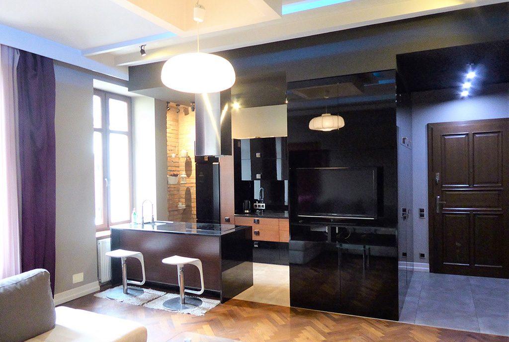 nowoczesna kuchnia w ekskluzywnym apartamencie do wynajęcia Częstochowa
