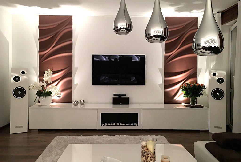nowoczesny salon w ekskluzywnym apartamencie do sprzedaży Ostrów Wielkopolski