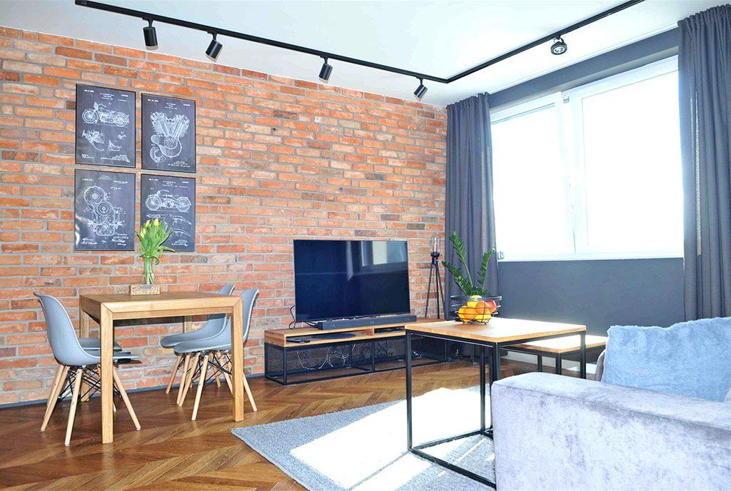 komfortowy salon w ekskluzywnym apartamencie do sprzedaży Szczecin